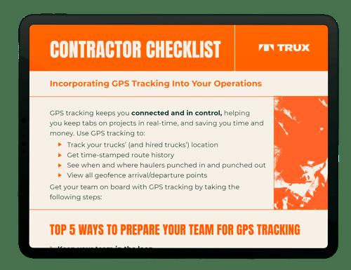 Contractor Checklist - tablet