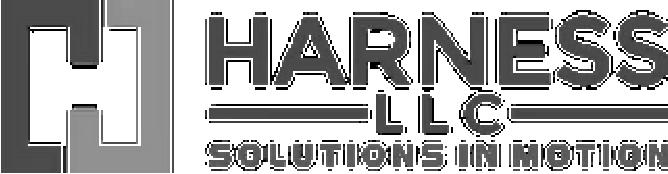Harness LLC Logo Grayscale
